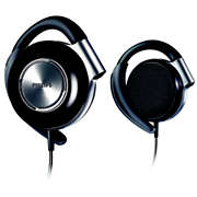 Fones de ouvido com clipe para fixação
