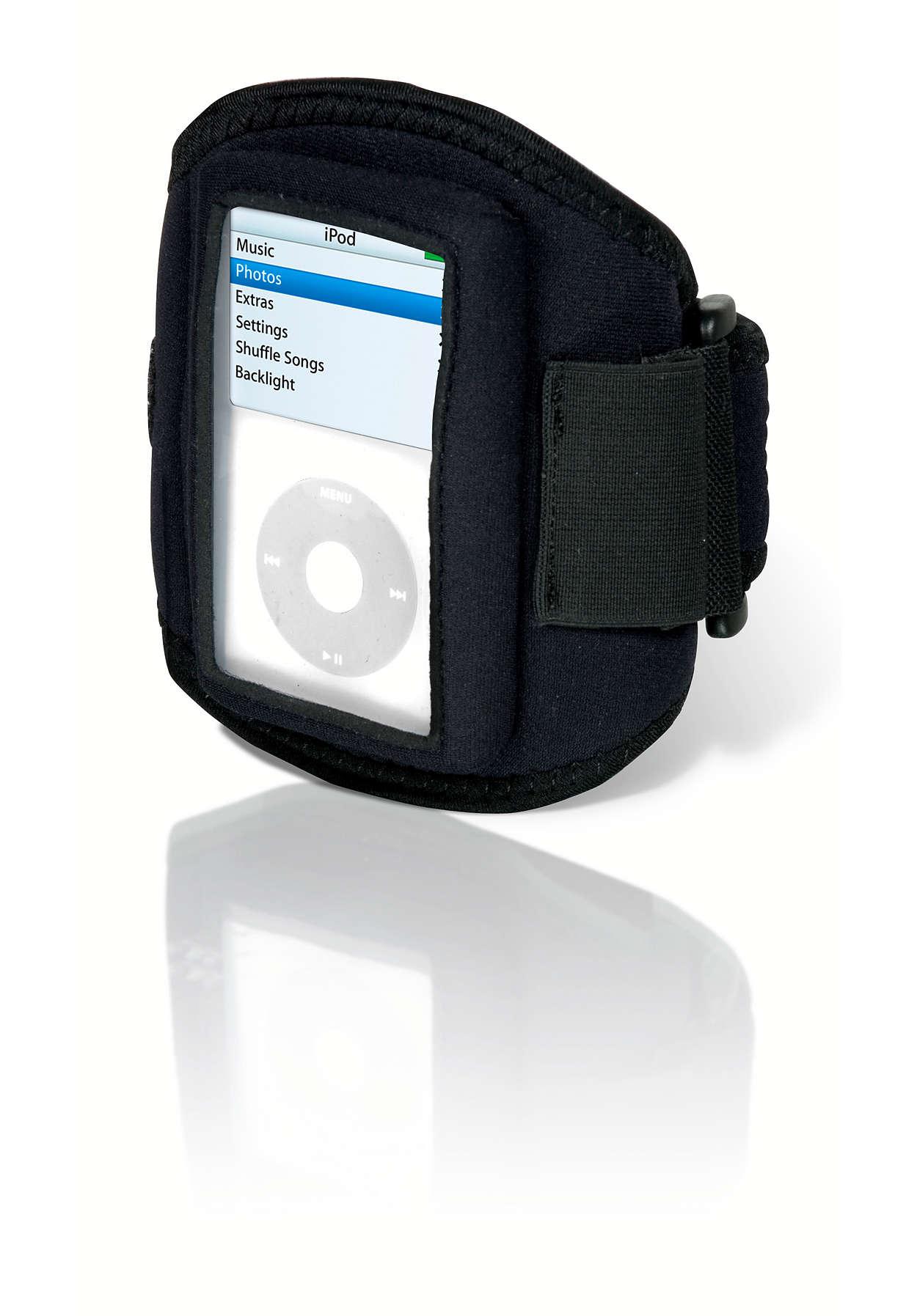 Tren med MP3-spilleren