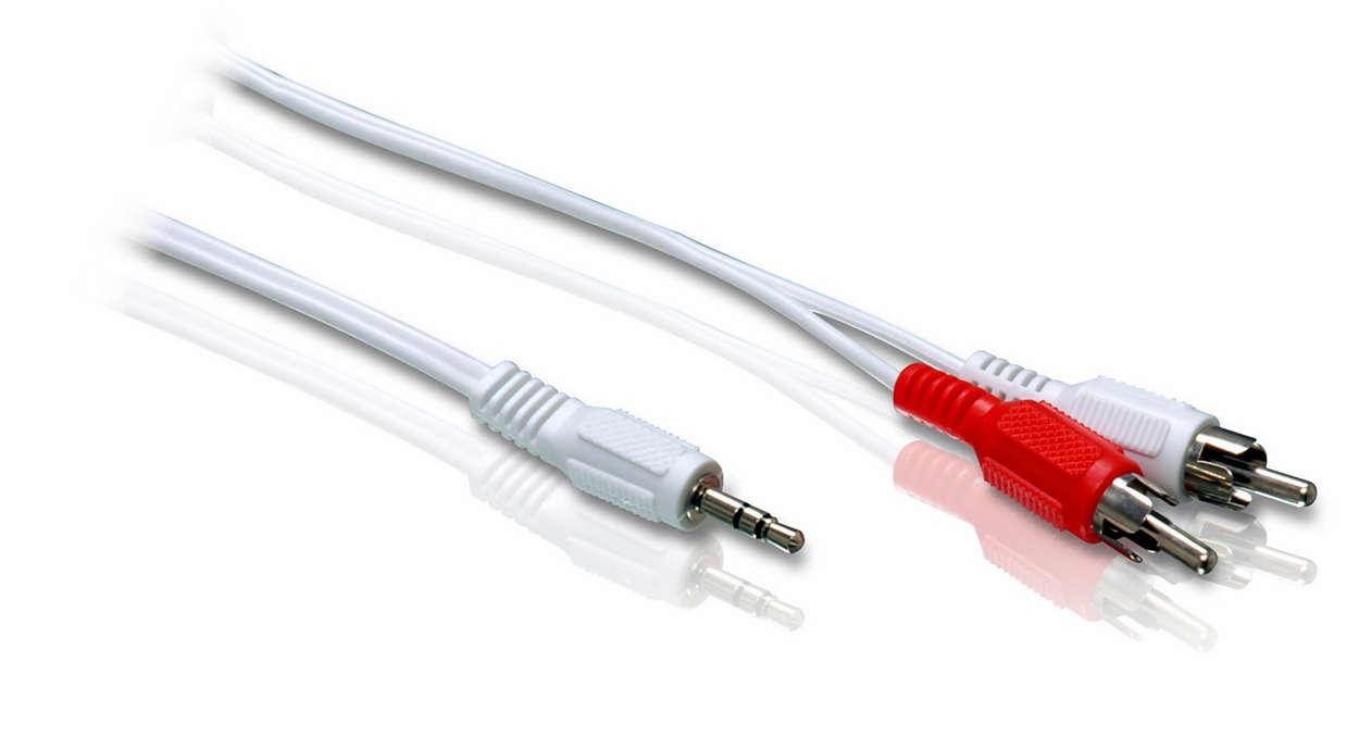 Ligue o leitor de MP3 ao sistema estéreo