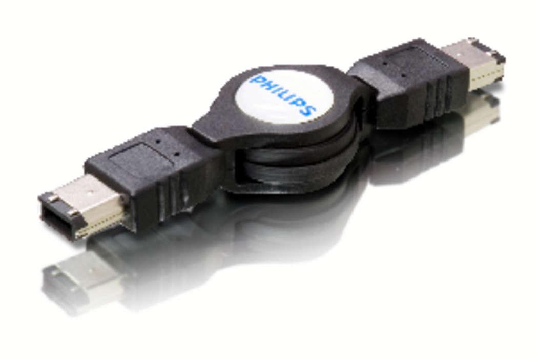 Anslut Firewire-enheter till datorn