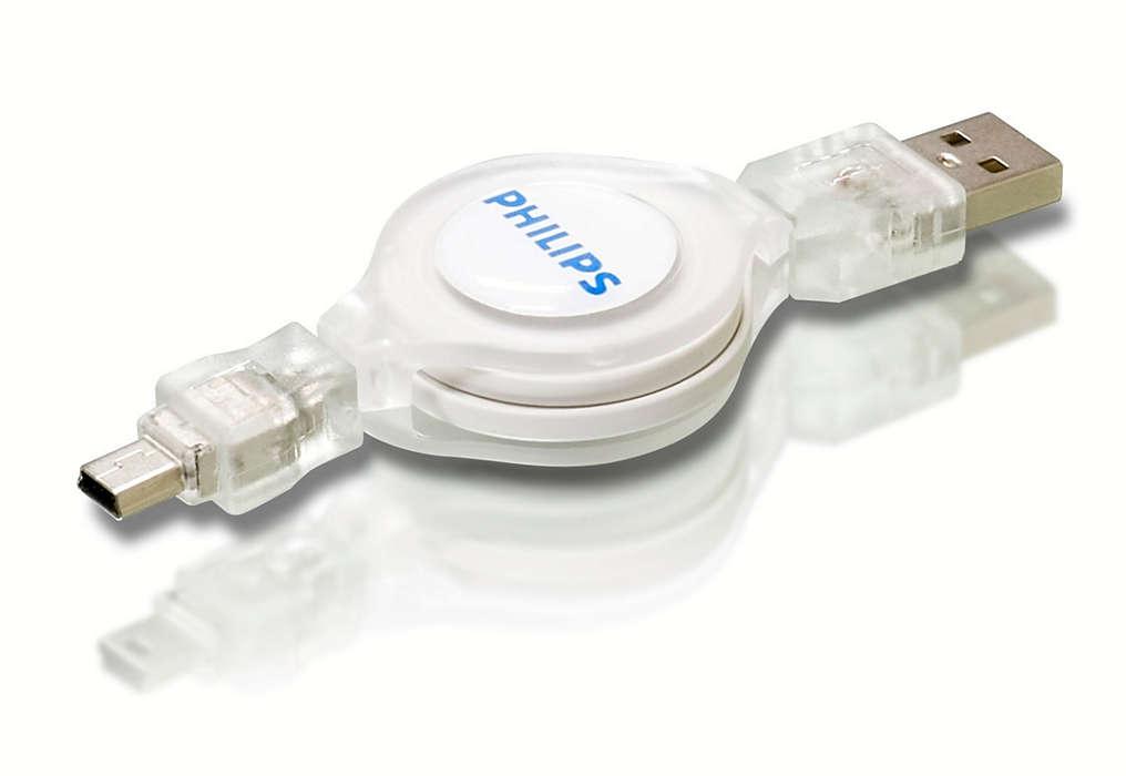 Connexion de périphériques USB à un ordinateur