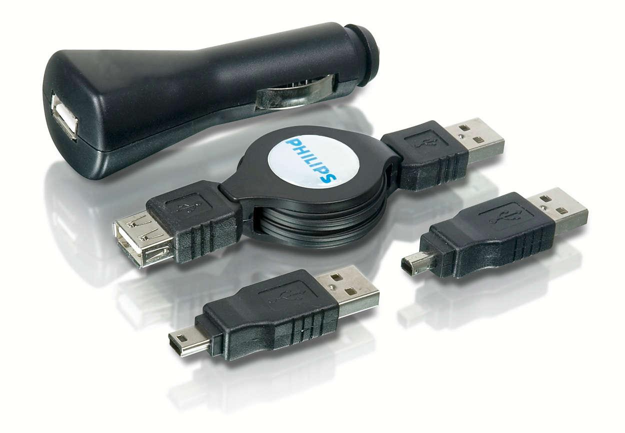 Lade USB-enhetene