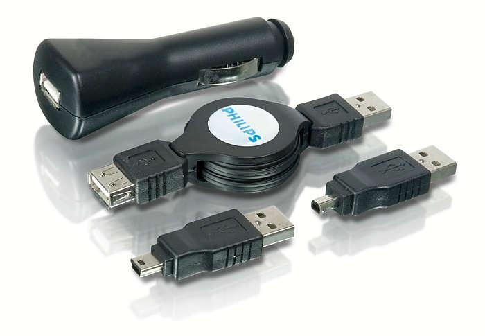 Carregue seus dispositivos USB