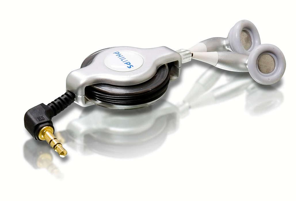 Desfrute de um som soberbo e fácil gestão de cabos