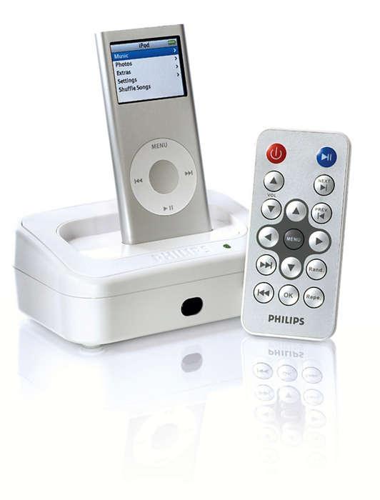 Sluit uw iPod aan