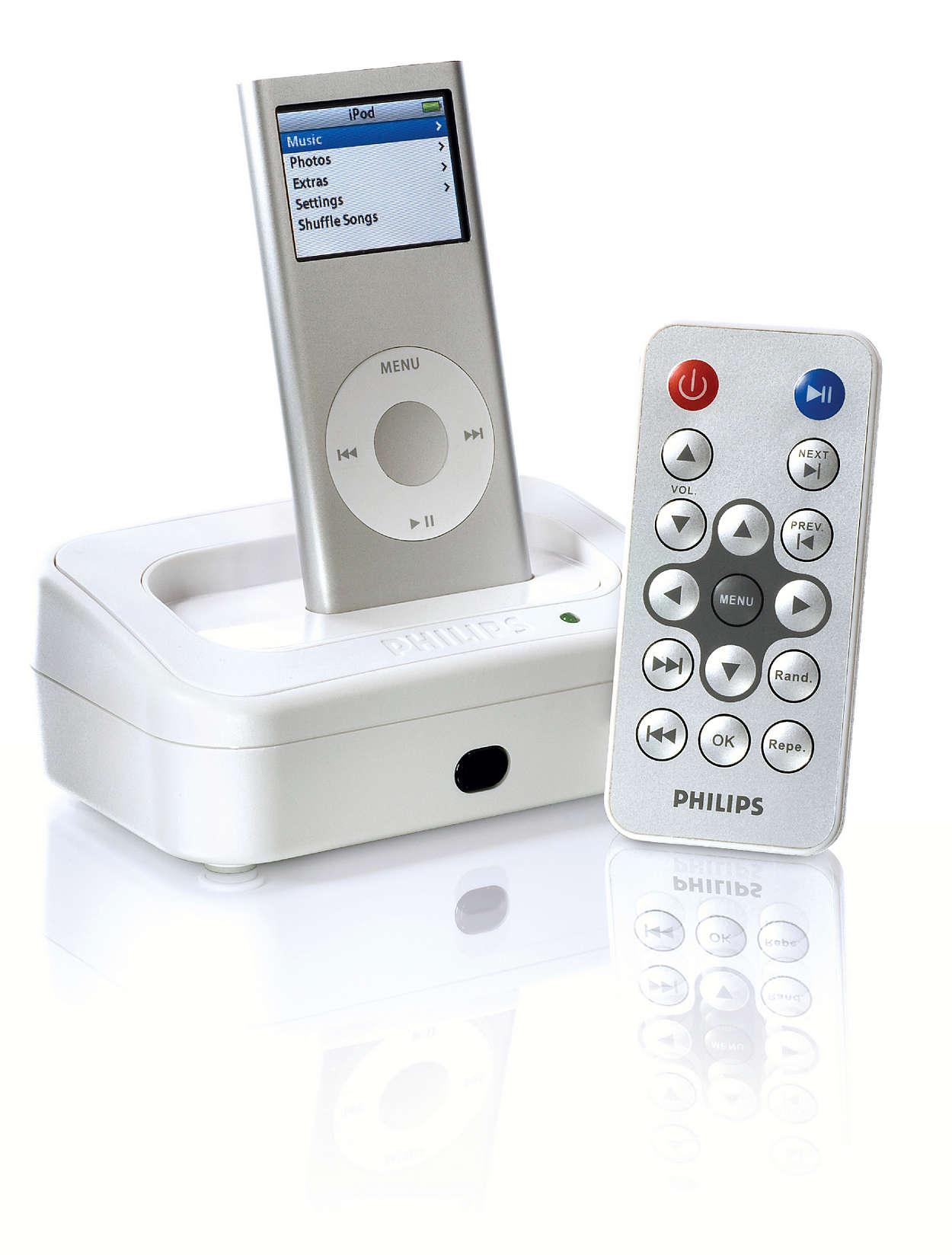 Поставьте iPod в док