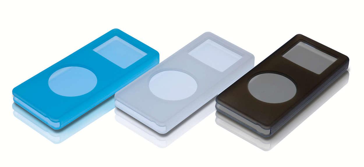 Przechowuj, chroń i przenoś swój odtwarzacz iPod Nano
