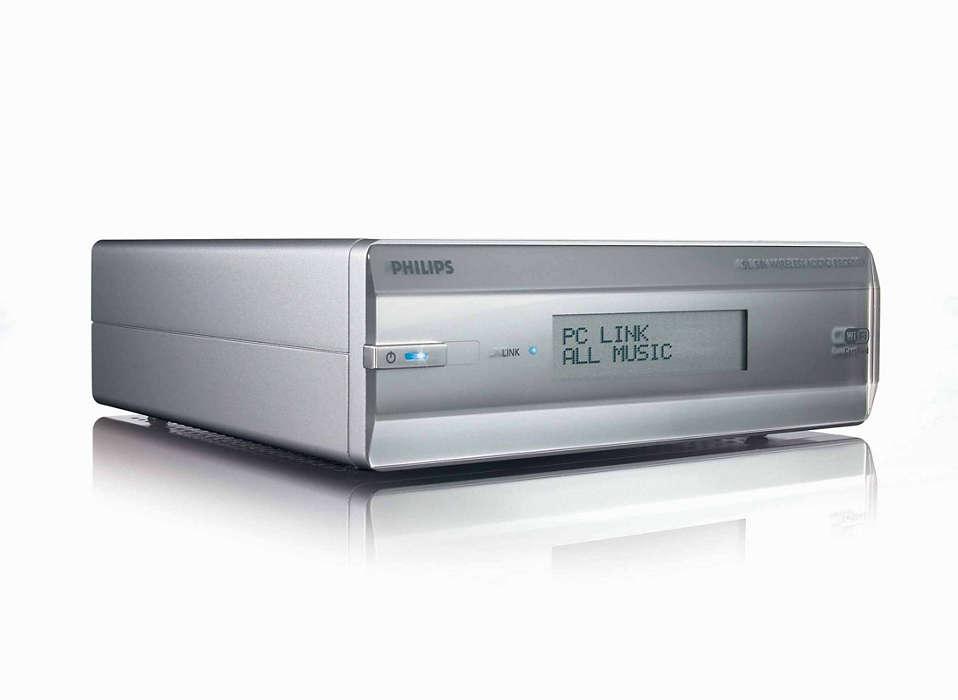 Müzik burada, PC orada ve kablosuz