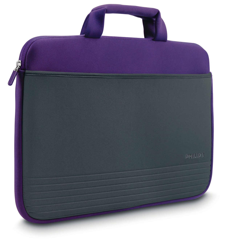 pochette pour mini ordinateur portable sle1100pn 10 philips. Black Bedroom Furniture Sets. Home Design Ideas
