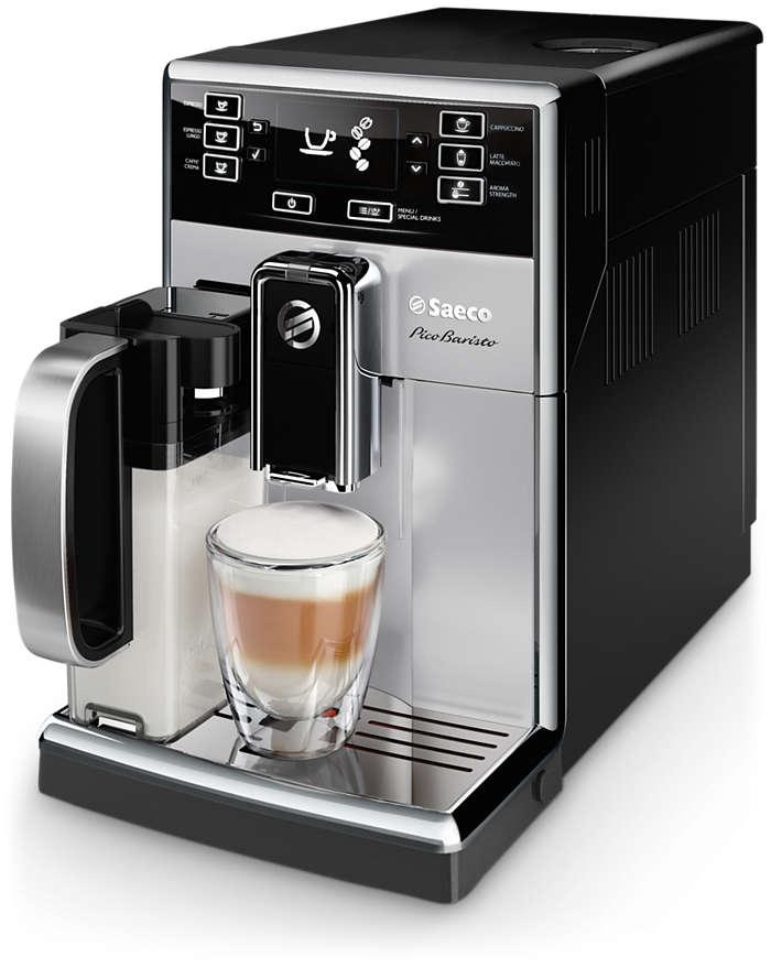 Nejvíce možností, jaké vám kompaktní kávovar může nabídnout.