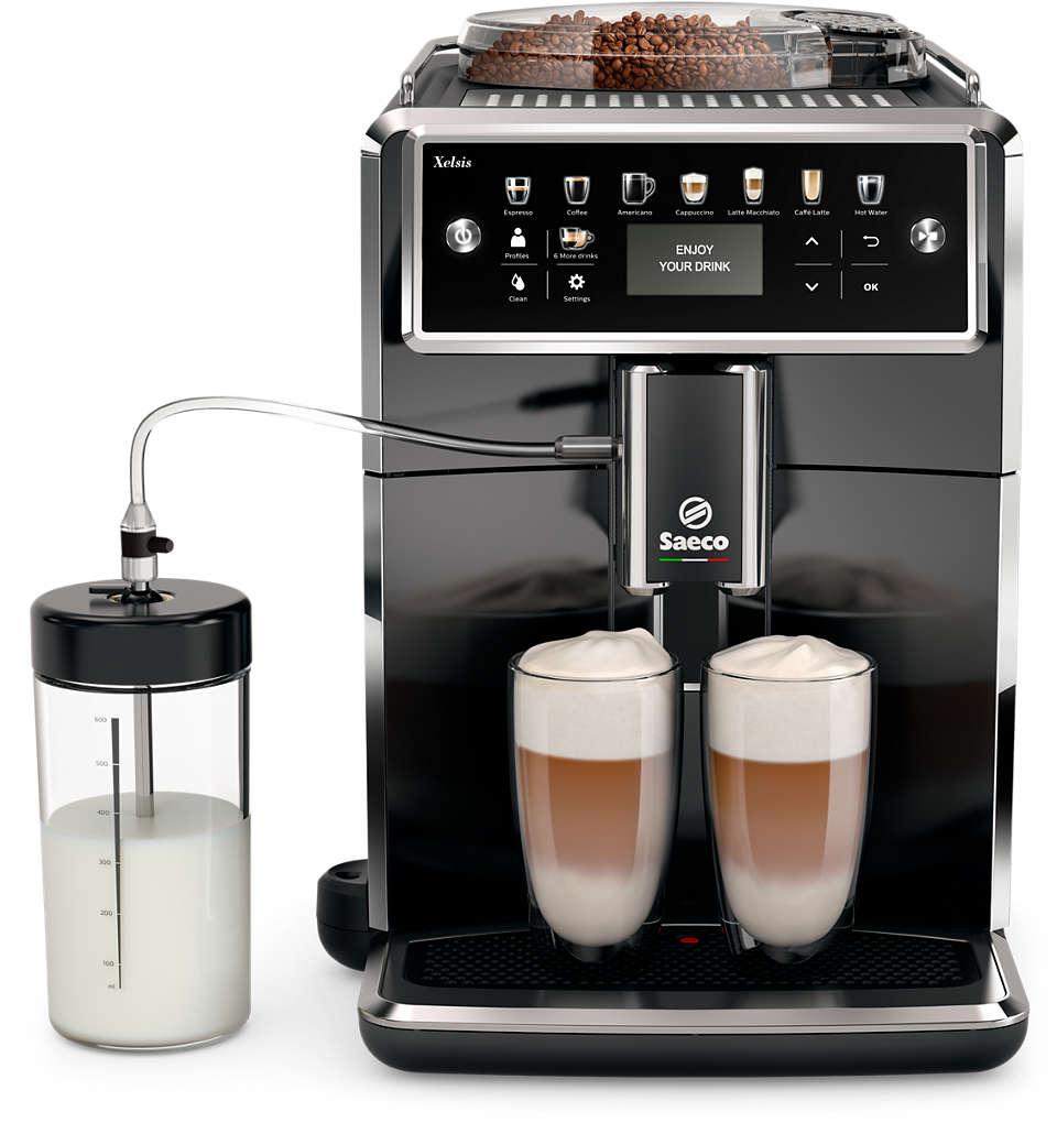 Explorez le monde de la machine à café Saeco.