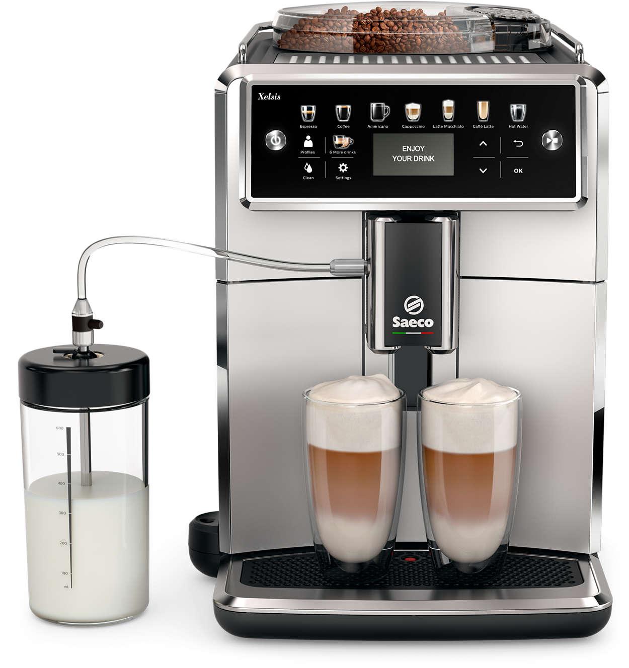 探索前所未見的 Saeco 咖啡機世界。