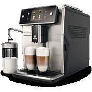 Saeco Xelsis Machine espresso Super Automatique SM7683 15boissons, système LatteDuo, façade Inox, broyeur réglable sur 12niveaux