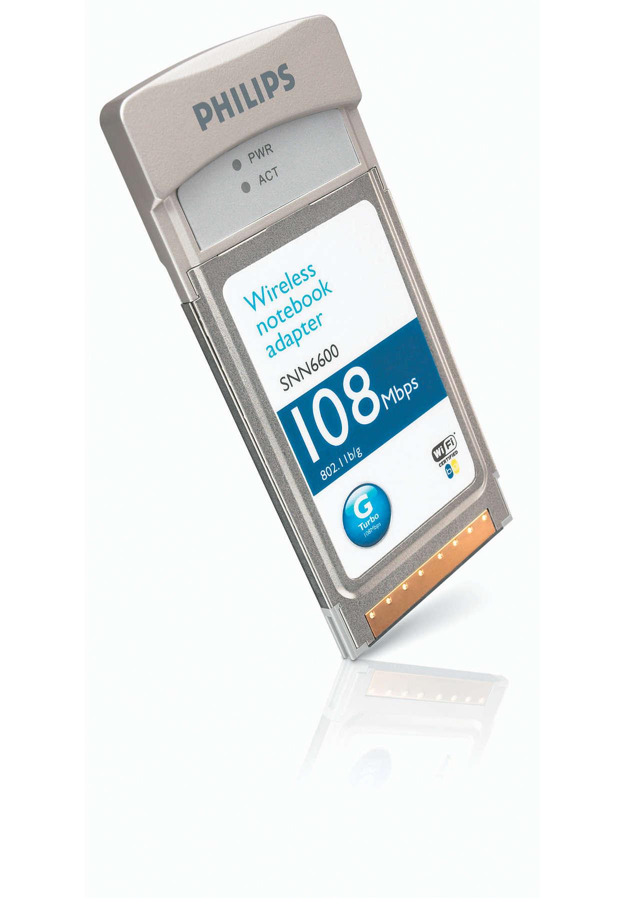 Draadloze notebookadapter