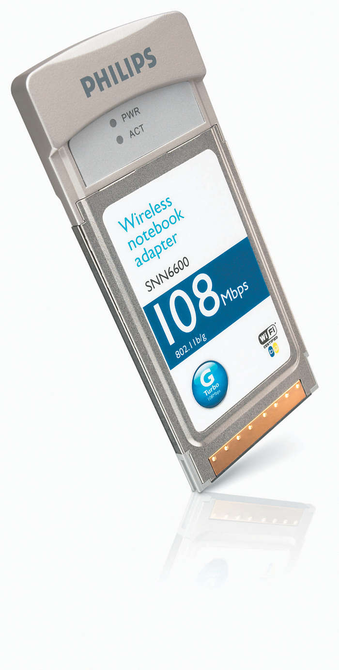 Trådlös adapter för bärbara datorer