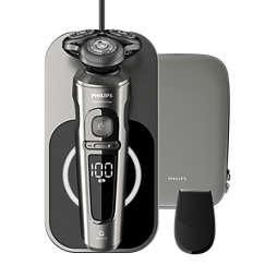 Shaver S9000 Prestige آلة حلاقة كهربائية لحلاقة رطبة وجافة، Series 9000