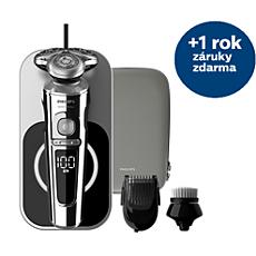 SP9863/14 Shaver S9000 Prestige Elektrický strojek, mokré asuché holení, řada 9000