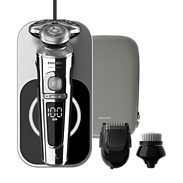 Shaver S9000 Prestige Elektrischer Nass- und Trockenrasierer, Series9000