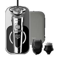 SP9863/14 Shaver S9000 Prestige Elektrischer Nass- und Trockenrasierer, Series9000