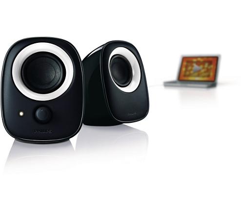 enceintes usb pour ordinateur portable spa2210w 10 philips. Black Bedroom Furniture Sets. Home Design Ideas