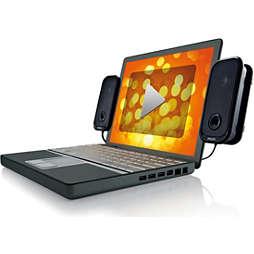 Altavoces USB para computadoras portátiles