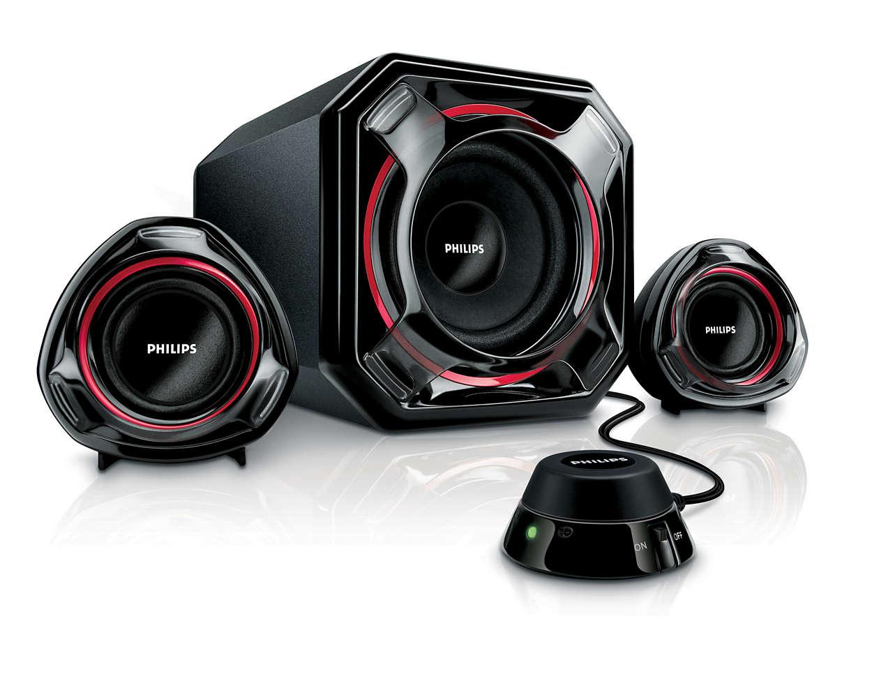 Multimedia Speakers 21 Spa5300 93 Philips 100w Car Subwoofer Amplifier