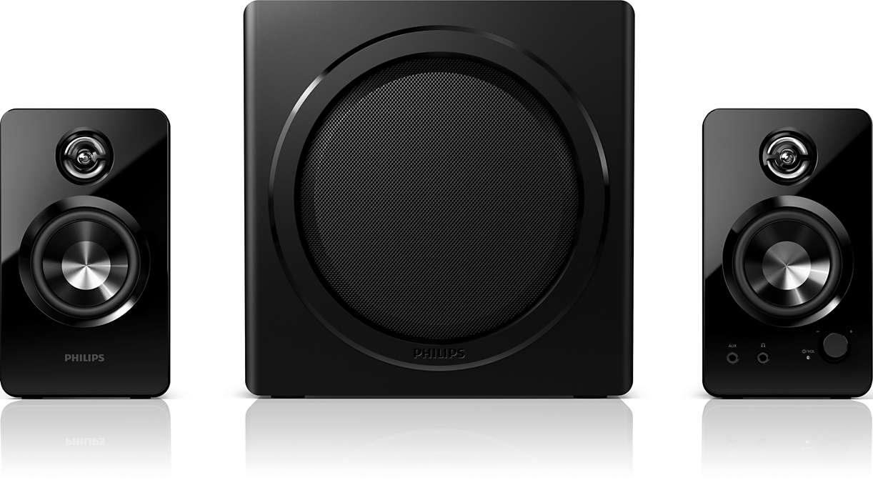 PC-högtalare med kraftfullt och fylligt ljud