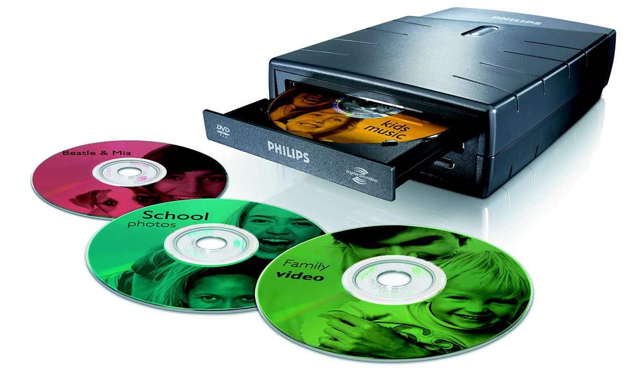 Kirjoita ja luo nimikkeet suoraan DVD-levyille samalla laitteella