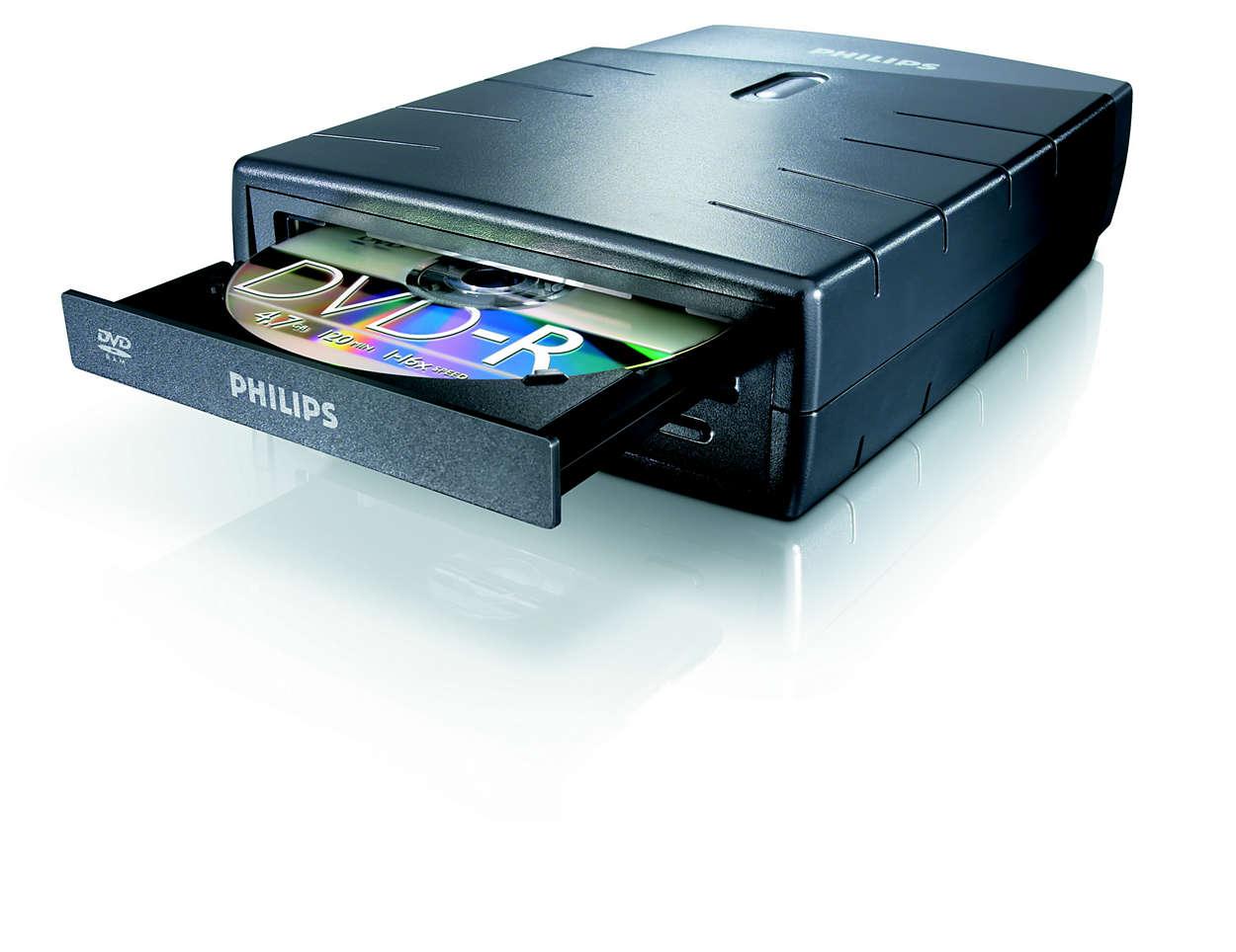 DVD, RAM och CD i ett