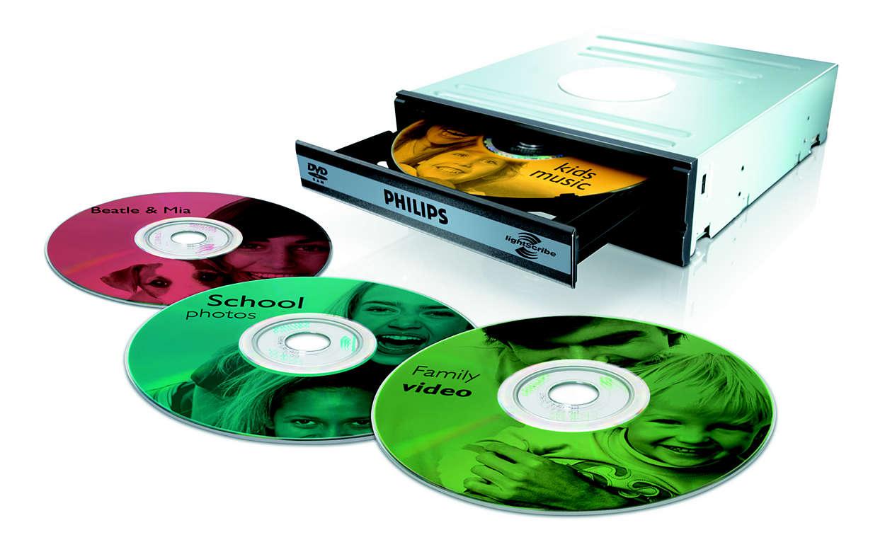 Beschreiben und Etikettieren von DVDs mit einem Gerät