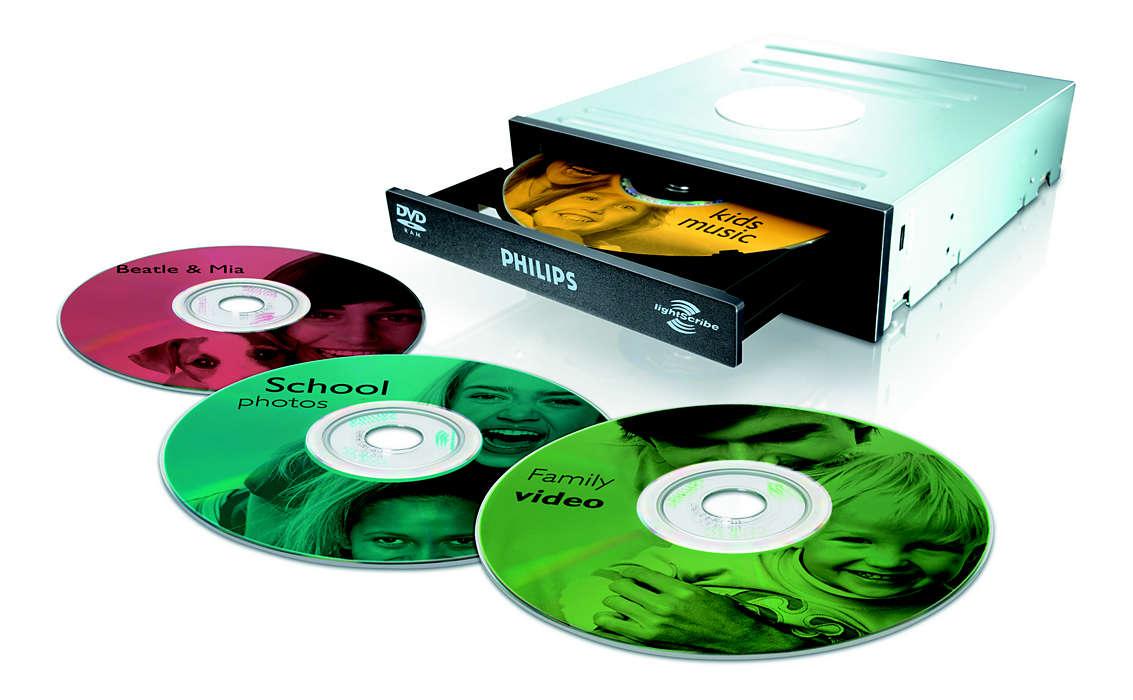 DVD с этикеткой в одном устройстве