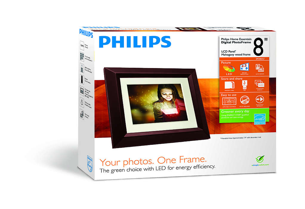 Home Essentials Digital PhotoFrame SPF3482/G7 | Philips