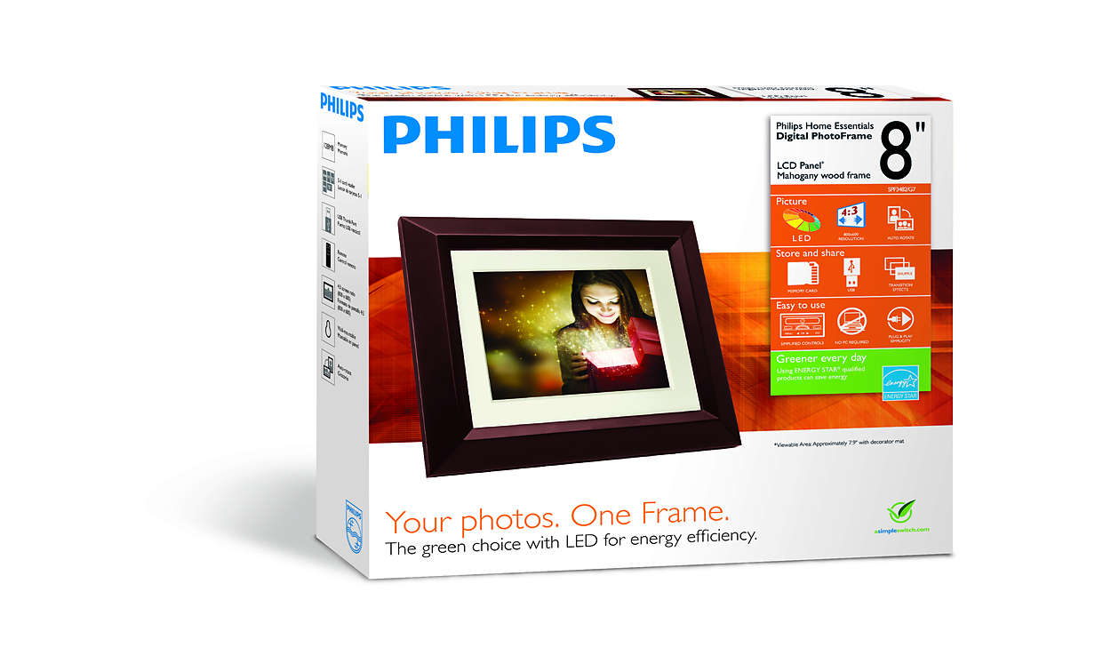 Home Essentials Digital Photoframe Spf3482g7 Philips
