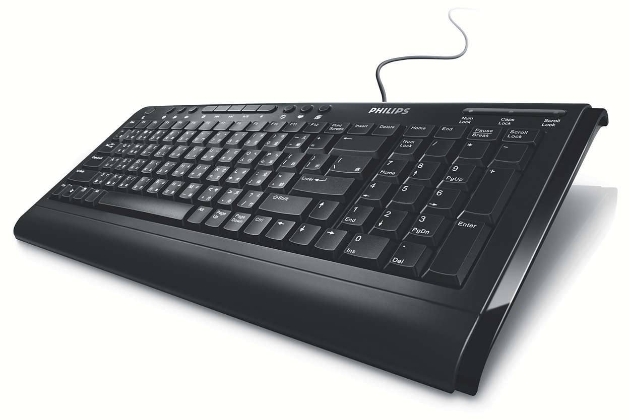 Teclado multimedia con cable
