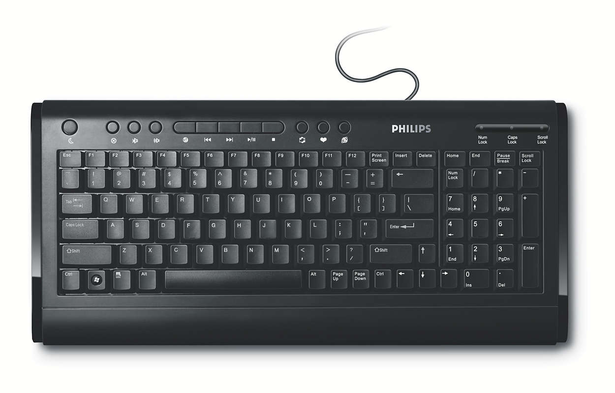 Wired multimedia keyboard