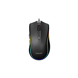 Philips G400 Series Wired gaming mouse with Ambiglow SPK9403B Up-to 4000 DPI (adjustable) Optical Sensor 7 Programmable buttons 7-way ambiglow lighting