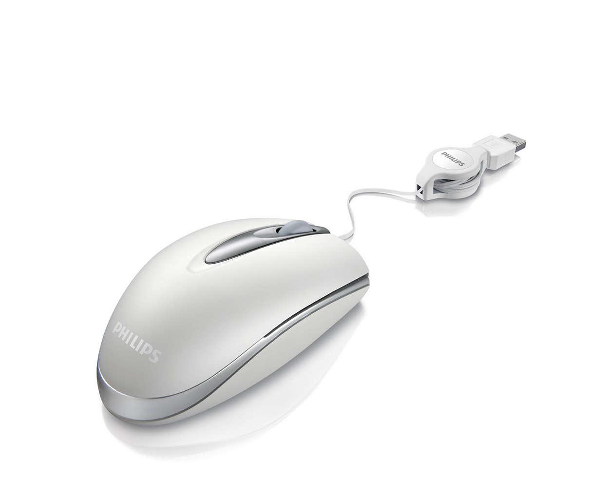 Notebook-mus med ledning