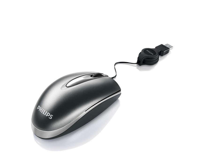 Sladdansluten mus till bärbar dator