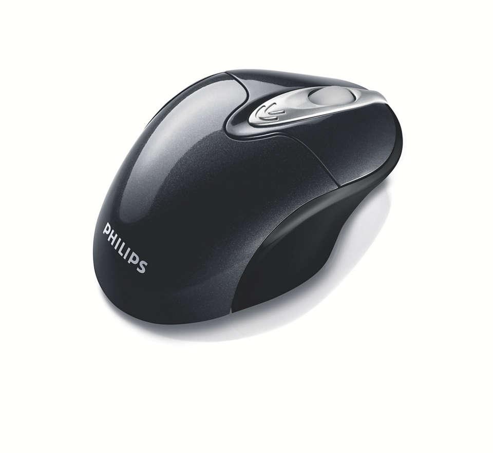 Mouse láser inalámbrico para computadoras portátiles