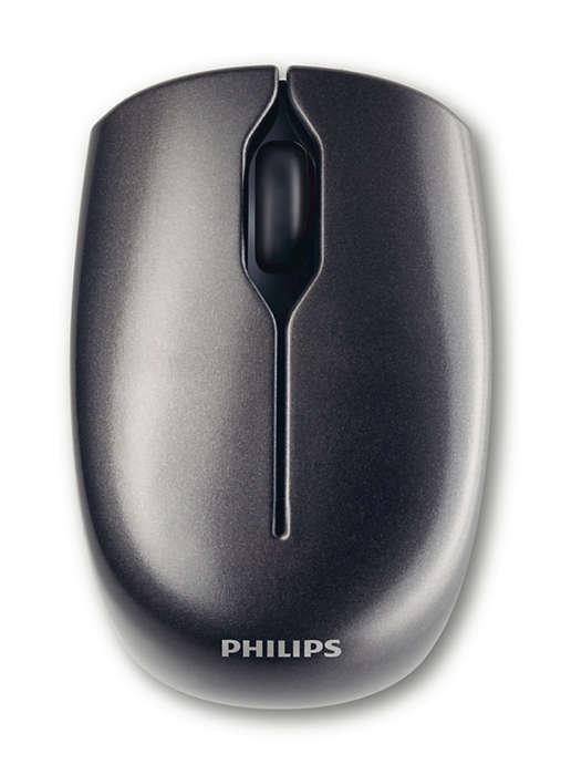 Беспроводная лазерная мышь для ноутбука