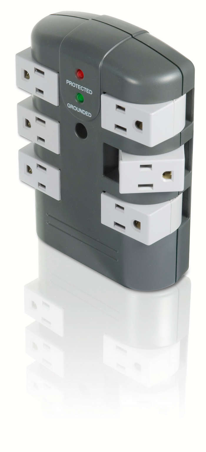 All outlets rotate for flexibility
