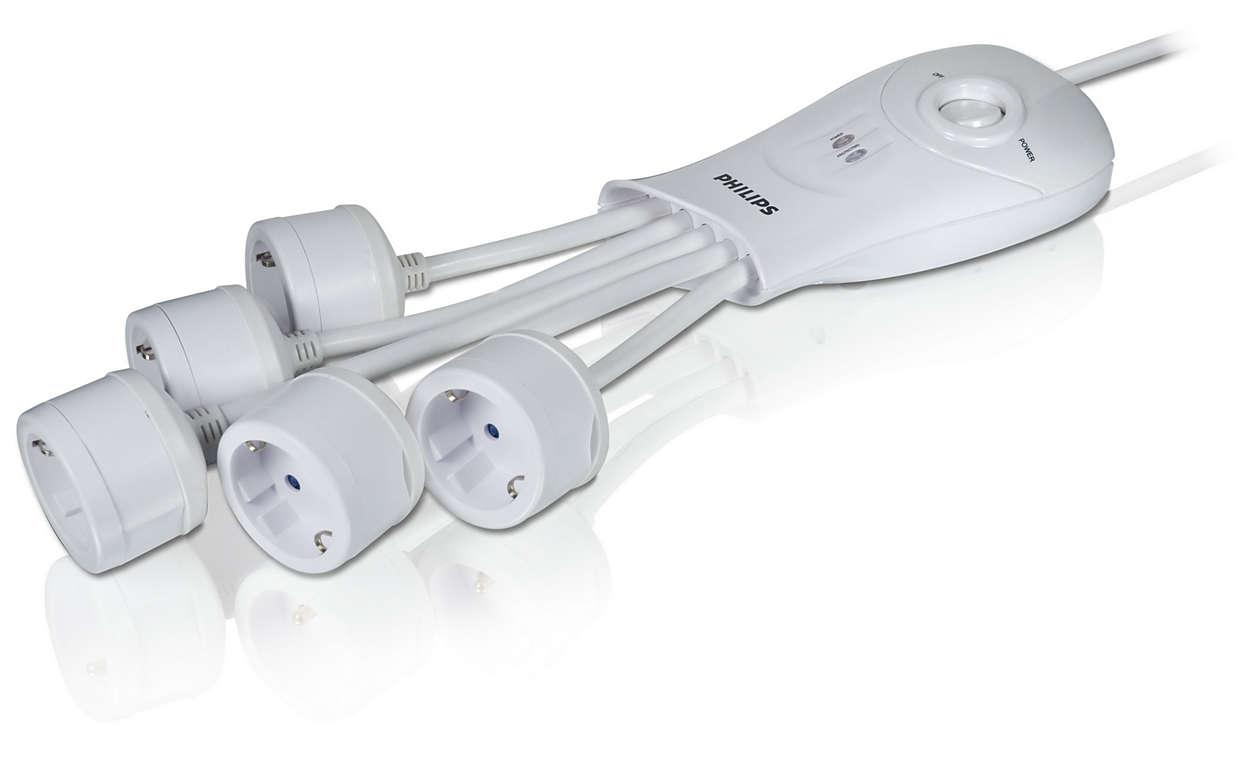 Προστασία ρεύματος για υπολογιστή/τηλέφωνο/DSL