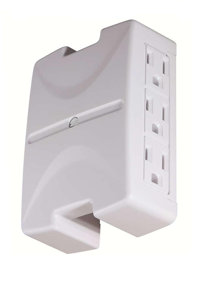 Amplía el espacio para tomas de corriente