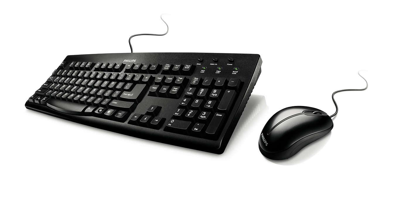 Sada kabelové klávesnice a myši