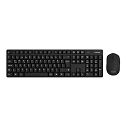 Philips 500 Series Keyboard-mouse combo SPT6501BB 3 buttons 2.4GHz Wireless Optical Sensor