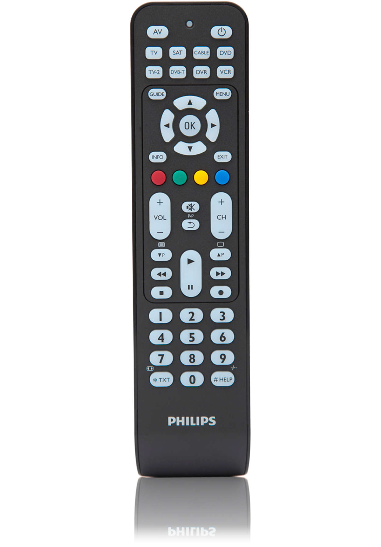 Efterstræbte Perfect replacement Universal remote control SRP2008B/86 | Philips MC-12