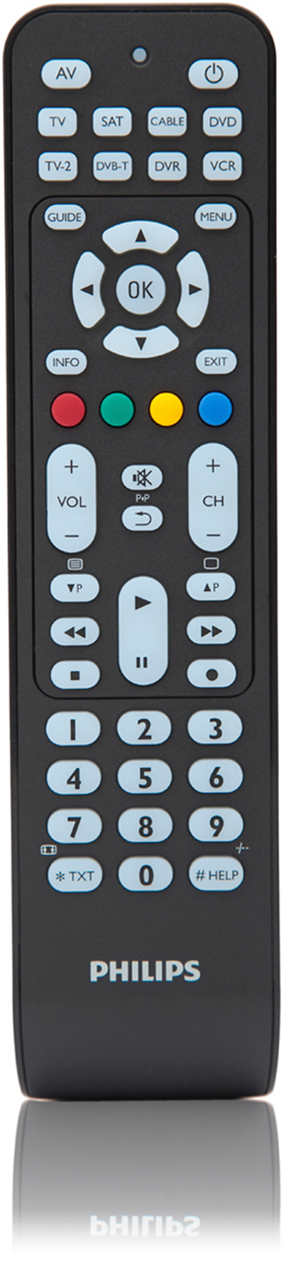 Rørig Perfect replacement Universal remote control SRP2008B/86 | Philips DM-77