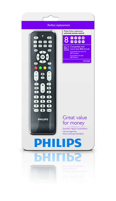 Folkekære Perfect replacement Universal remote control SRP2008B/97 | Philips LZ-04
