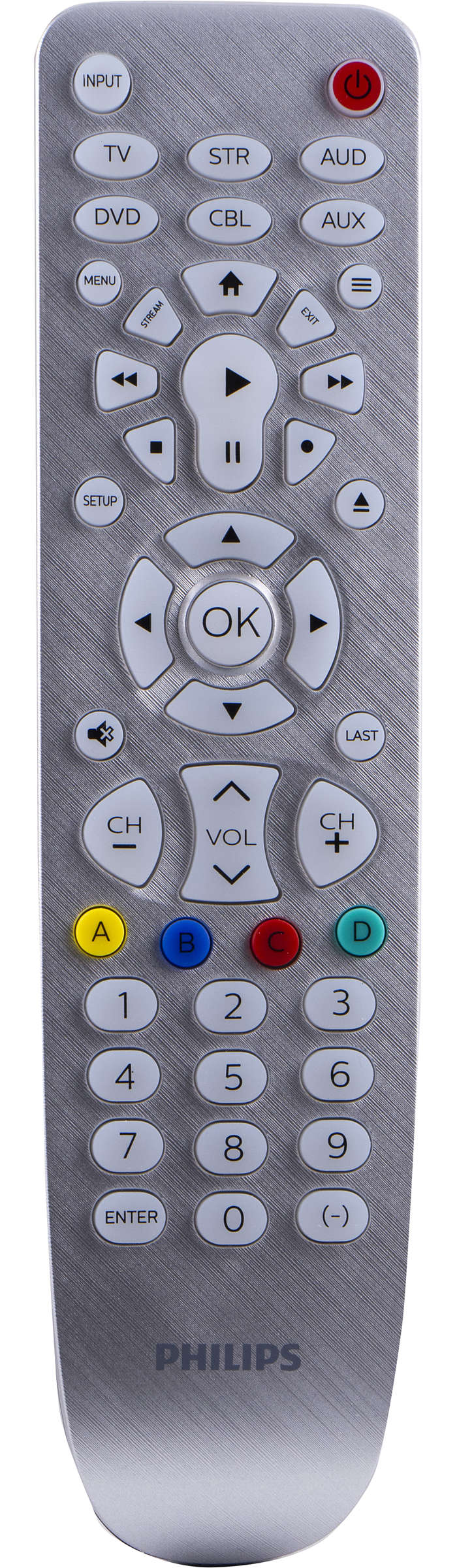 6 Device Universal Remote Control, Backlit