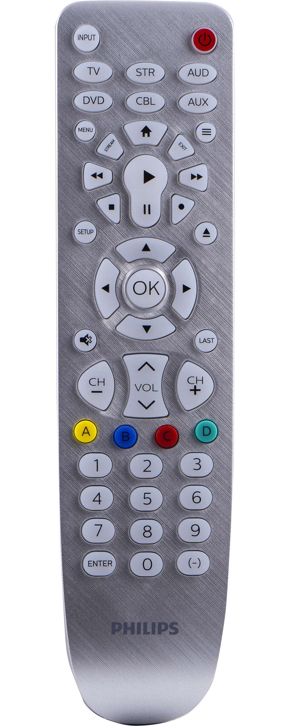 6 Device Universal Remote Control, Backlit